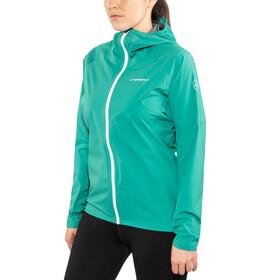La Sportiva Run - Chaqueta Running Mujer - gris/Turquesa